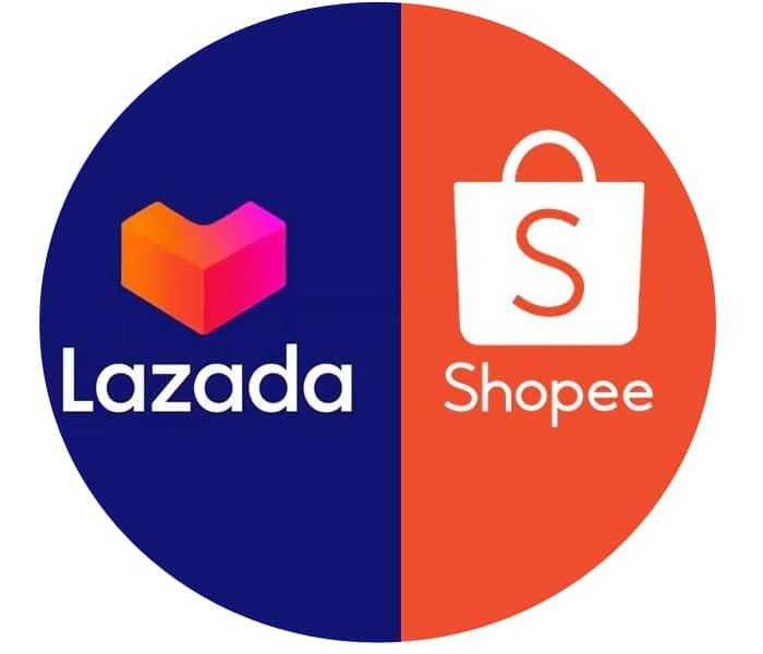 shopee vs Lazada version tròn